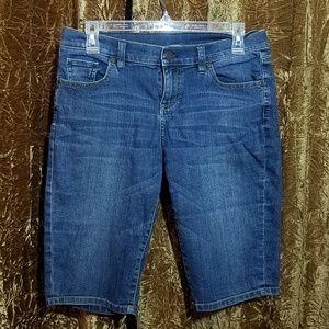 New York & Company Denim Jean Capri Shorts 6